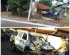 Viatura bate em casa durante perseguição no Araguaia; veja vídeo: