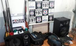 Polícia prende suspeitos de furto com armas no Norte Araguaia