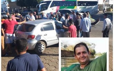 Secretário morre após colisão de moto e caminhonete na região do Araguaia; VEJA VÍDEO
