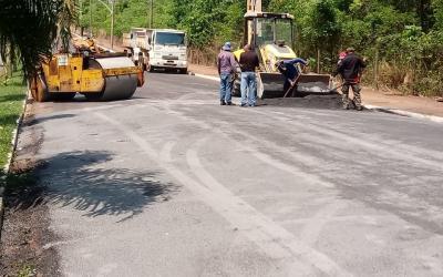 Prefeitura de Barra do Garças realiza recapeamento na avenida Marechal Rondon