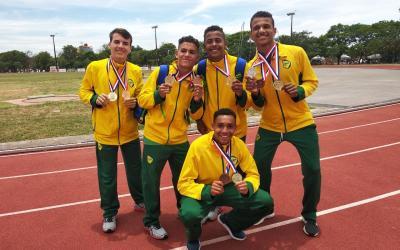 No Paraguai, atleta do Araguaia conquista medalha de ouro na prova de revezamento 5x80