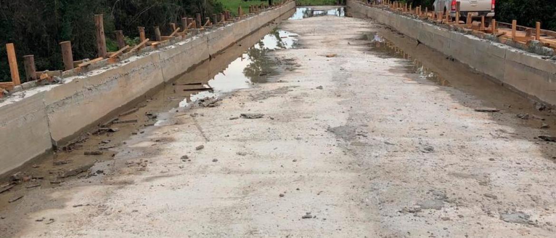 Ponte de concreto é concluída na zona rural de Barra do Garças