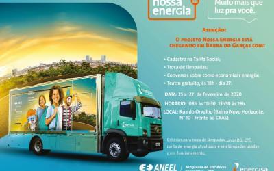 Projeto Nossa Energia chega à Barra do Garças com ações de conscientização a população
