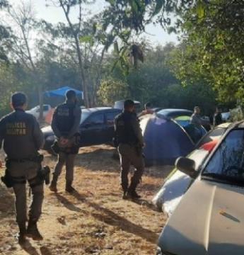 Acampamento com 200 pessoas é desarmado pela PM em MT em plena pandemia
