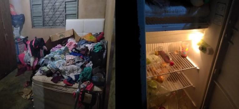 Policiais e conselheiros tutelares encontram seis irmãos abandonados pela mãe em Poxoréu