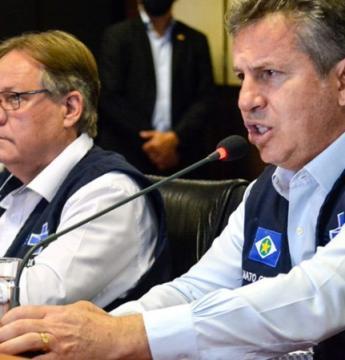 Governador Mauro Mendes e secretário de Saúde embarcam para SP para receber vacinas contra Covid-19