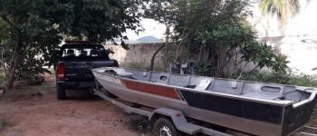 PM de Aragarças recupera barco e reboque furtados em Jussara