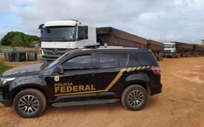 PF apreende duas carretas carregadas com minério de manganês