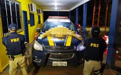 PRF prende homem transportando mais 30 kg de cocaína