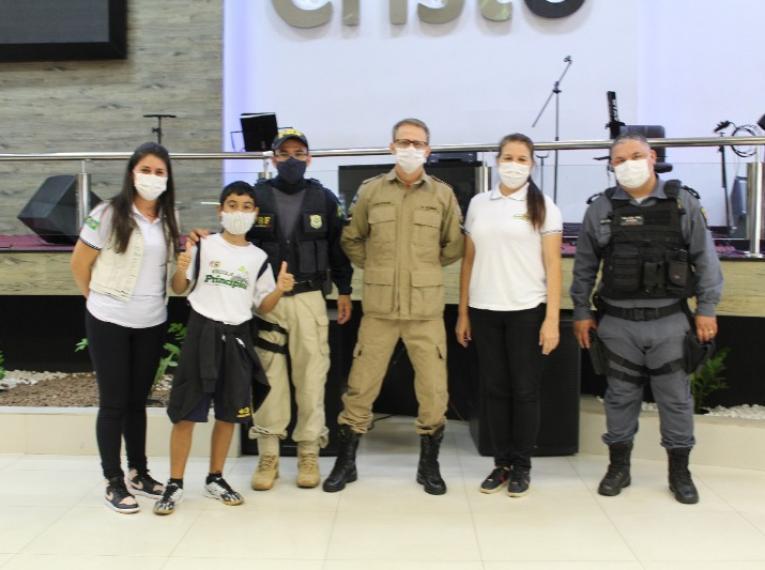 Forças de Segurança realizam palestra sobre trânsito na Escola Princípios de Barra do Garças