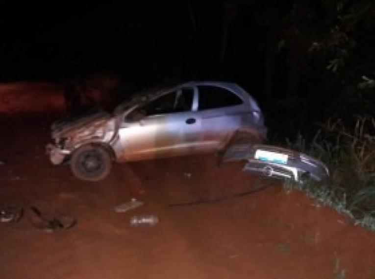 Motorista fica ferido após capotamento na MT 109 no Araguaia