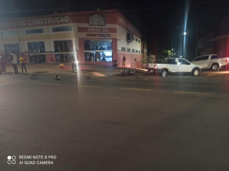 Motociclista fica ferido após colisão moto e carro em Barra do Garças