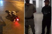 Morador agradece em VÍDEO a PMs de Aragarças que recuperaram moto após perseguição e prisão de suspeito