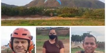Major de Aragarças realiza ação ambiental com paramotor para reflorestar margens do Rio Araguaia VEJA VÍDEOS