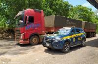 PRF apreende carreta com sinais de adulteração em Barra do Garças