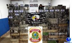 VEJA VÍDEO: PM e PF apreendem 770 tabletes de cloridrato de cocaína avaliados em 19 milhões em Confresa