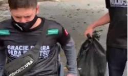 VEJA VÍDEO Paratletas de Barra do Garças conquistam medalhas e dão exemplo limpando praça em Brusque