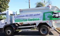 VEJA VÍDEO: Senador Vanderlan visita Aragarças e entrega caminhão coletor de lixo e mais 500 mil para Saúde
