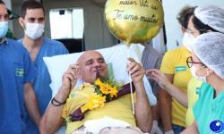Depois da emoção, vice-prefeito de Barra do Garças recebe alta da Covid VEJA VÍDEO