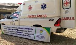 VEJA VÍDEO: Mauro Mendes entrega ambulância e mais 400 cestas em Pontal do Araguaia