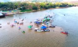 VEJA VÍDEO: Bombeiros alertam banhistas de Barra do Garças sobre os riscos de tomarem banho no meio do rio