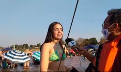 VEJA VÍDEO: Mais de 3 mil pessoas curtiram Rio Araguaia para fugir do forte calor em Barra do Garças; assista a live do site Araguaia Notícia