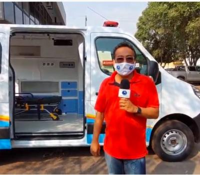 VEJA VÍDEO: Barra do Garças recebe nova ambulância para reforçar a Saúde