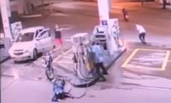 VEJA VÍDEO policial reage assalto em posto de Barra do Garças; um assaltante foi baleado e preso e outro escapou
