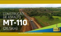 Mato Grosso está asfaltando MT 110 no Araguaia VEJA VÍDEO