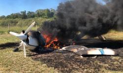 VEJA VÍDEO PF faz enfrentamento ao tráfico e avião é incendiado em MT