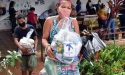 VEJA VÍDEO: Mato Grosso já arrecadou mais de 130 toneladas de alimentos para atender famílias durante pandemia