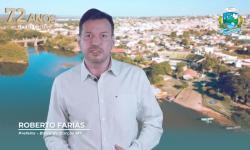 Roberto Farias parabeniza Barra do Garças pelos 72 anos VEJA VÍDEO