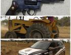 Polícia Civil apreende armas e recupera trator em assentamento agrário