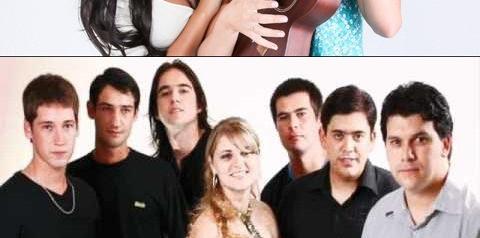 Hoje, segunda-feira, tem show com a dupla Gabriela e Raphaela e banda Realce na praia de Aragarças