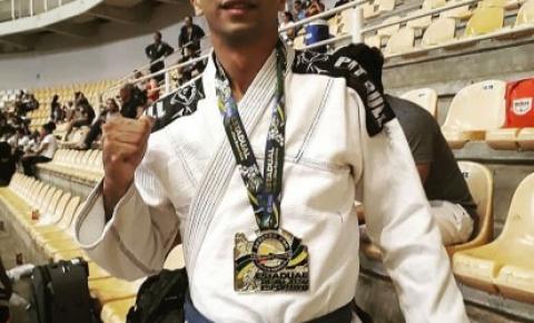 Atleta de Barra do Garças conquista medalha de ouro no Campeonato MT de Jiu-Jitsu
