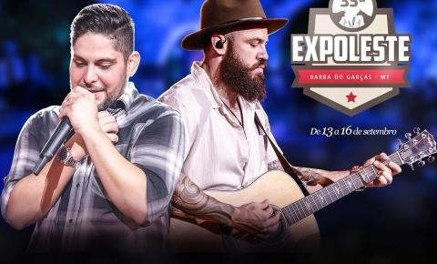 Divulgado o 1º show da Expoleste 2018 com Jorge e Mateus em Barra do Garças