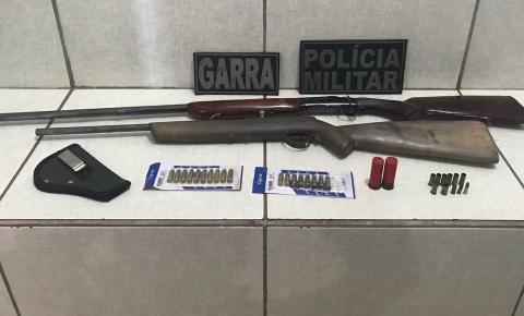 Homem preso com revolver em Barra do Garças revelou que ainda tinha mais duas armas e munições em casa
