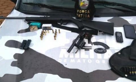 Força Tática apreende armas e munições durante blitz na BR-158