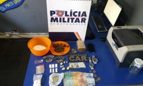 Casal é preso com cocaína pura avaliada em R$ 6 mil