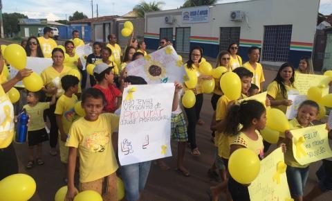 Prefeitura do Pontal do Araguaia realiza caminhada de prevenção ao suícidio no Setembro Amarelo
