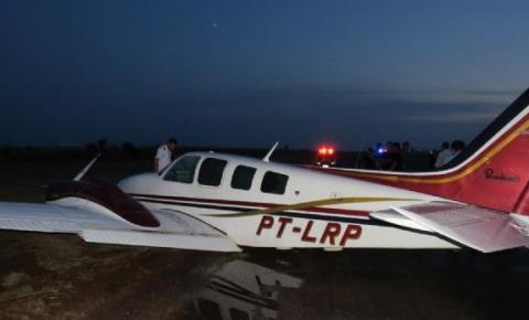 Veja vídeos com pouso forçado do avião que estava Daltinho e Nilson Leitão; e as explicações do piloto