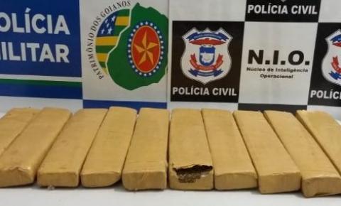 Gestante é flagrada com 10 tabletes de maconha tentando entrar na região do Araguaia