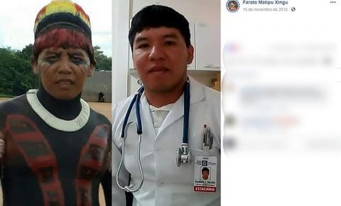 Indígena de MT faz sucesso na web após 'desafio dos 10 anos' com foto na aldeia e no trabalho