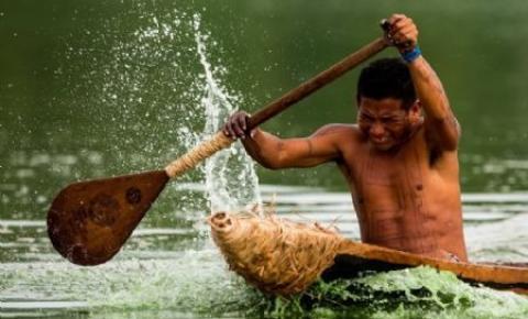 Equipe da TV Globo vem ao Xingu mostrar torneio de canoagem indígena