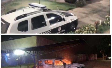 Menores que colocaram fogo em viatura da Polícia Civil são apreendidos em Aragarças; VEJA VÍDEO