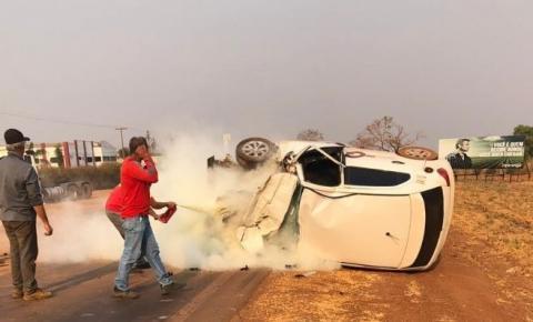 VIDEO mostra jovem que sobreviveu acidente e ficou preso nas ferragens no Araguaia