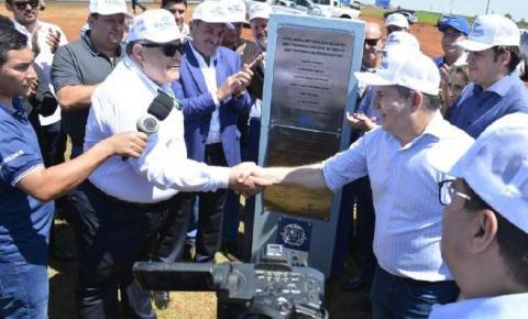 Obra inaugurada por Mauro Mendes beneficiará mais de 20 mil moradores de Alto Araguaia e Alto Taquari