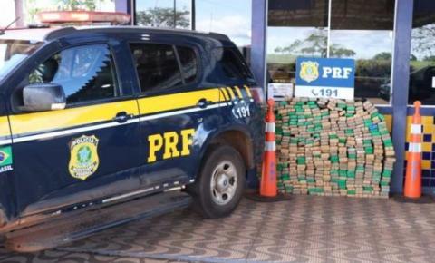 PRF apreende 417 quilos de maconha em veículo abandonado