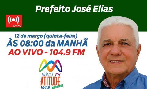 José Elias estará ao vivo nesta quinta na Rádio Atitude, que entrevista prefeitáveis da região