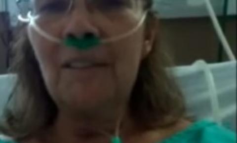 Mulher com coronavírus em MT fala de sua experiência direto da UTI com ajuda da filha VEJA VÍDEO